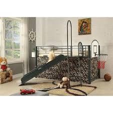 Bunk Bed With Slide Slide Bunk Loft Beds You Ll Wayfair
