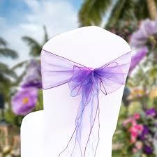 Chair Bows For Weddings 25pcs Organza Chair Sashes Bows For Seaside Weddings Organza Bows