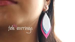 felt earrings diy easy felt earrings