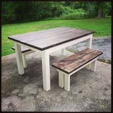 Ana White Farmhouse Bench Farmhouse Table With Butcher Block Free Plans From Ana White Com