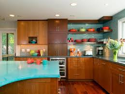 Turquoise And Orange Kitchen by Choosing Your Perfect Kitchen Painting Ideas For Cheerful Look