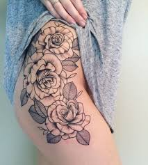 tattoos org roses on my hip thigh ink your skin pinterest