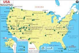 map us south us national parks map list of national parks in the us