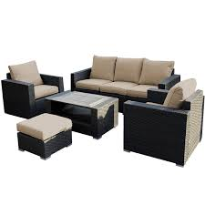 Wicker Sofa Bed by Amazon Com Giantex 7pc Outdoor Patio Patio Sectional Furniture Pe