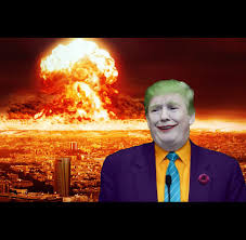 High Quality Meme Generator - nuclear explosion brought to you by trump blank template imgflip