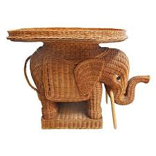 elephant end tables ceramic elephant end table image of wicker with tray bookify