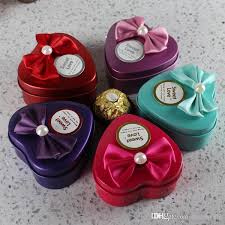 heart shaped candy boxes wholesale wholesale hearts shape metal candy box wedding favor holders