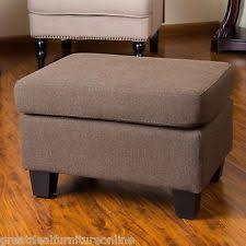 brown ottomans footstools and poufs ebay