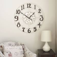 Small Decorative Wall Clocks Hall Oversized Wall Clocks With Standing Lamp And Small Windows