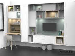 salon mobilier de bureau design meuble bibliotheque et meuble tv pour salon avec niches