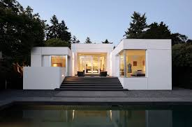 exterior medina mid century modern homes with white wall and