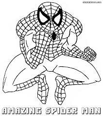 printable spiderman colouring pages activity sheets