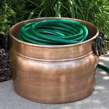 Garden Hose Container Amphora Copper Hose Pot Without Lid Outdoor