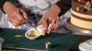how to paint with gold wedding cakes youtube