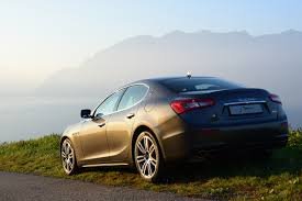 gray maserati maserati mountain lake lake geneva landscape car sunlight