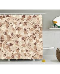 Ivory Shower Curtain Shower Curtain Autumn Leaves Branches Print For Bathroom