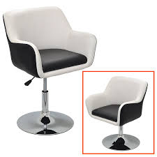 Esszimmerstuhl Orlando 1x Barhocker Design Lounge Sessel In Schwarz Weiß Barsessel
