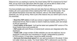 Seeking Book Pdf The Great Gatsby Pdf Docs