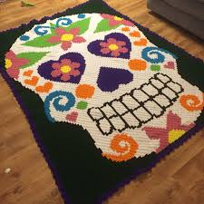 corner to corner crochet afghan using a cross stitch graph from
