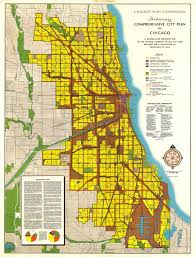 Chicago Areas Map by 1946 Plan For Chicago In 1965 To Have 3 8 Million People With