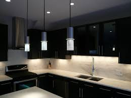 Hanging Kitchen Cabinet Black Kitchen Cabinet Design With Hanging Lamps And Dark Light
