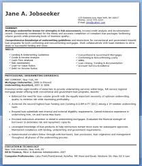 Free Job Resume Examples by Mortgage Underwriter Resume Examples Creative Resume Design