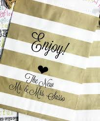 favor bags for wedding personalized wedding favor bags glazed and delicious from the mr
