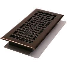 4 in x 12 in steel floor register oil rubbed bronze ajh412 rb