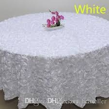 cheap white table linens in bulk wholesale white color 1 2 m wedding round table cloth overlays 3d