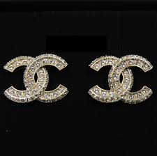 large stud earrings chanel gold xl large cc stud earrings gold authentic earrings