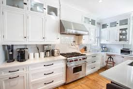 vintage kitchen cabinet handles white cabinet knobs transitional kitchen photo in new york with an
