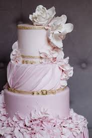 Wedding Cake Gum Pink And Gold Wedding Cake Inspiration Gum Paste Flowers Gum