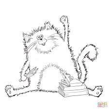 Halloween Free Printable Cards Coloring Page Pages Pinterest Best Cats Best Cat Coloring Cats
