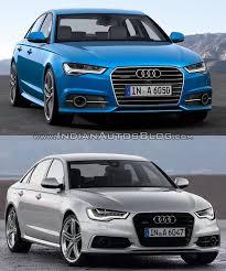 audi s6 vs vs 2015 audi a6 vs pre facelift model