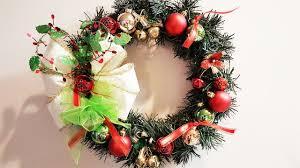 easy dollar tree wreath using old decorations diy christmas