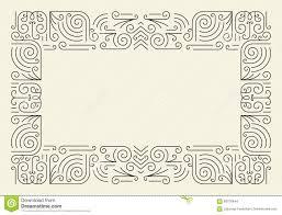 mono line frame simple certificate border template illustration