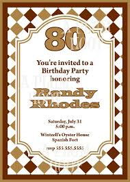 7 best birthday invites images on pinterest 80 birthday 80th