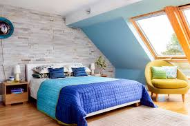 yellow and blue bedroom yellow armchair in blue bedroom interior design ideas ofdesign
