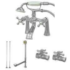Clawfoot Tub Fixtures Kingston Brass Cck268c Vintage Deck Mount Claw Foot Faucet Package