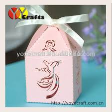 wedding favor boxes wholesale wb54 flying dancer design pink wedding favor boxes wholesale
