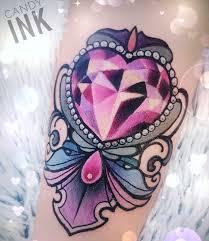 diamond tattoo neo traditional jewel tattoo tattoo pinterest neo traditional heart ornament