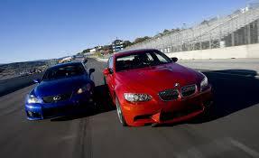 youtube lexus vs bmw 2008 bmw m3 v 2008 lexus is f car and driver youtube