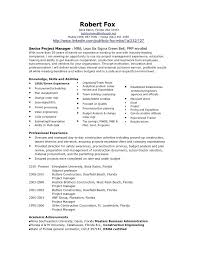 manager resume word construction project manager resume template word bob fox project