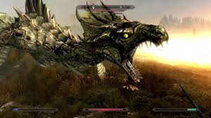 skyrim special edition dragon fight youtube
