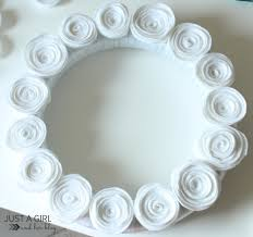 i u0027m dreaming of a white felt flower christmas wreath just a