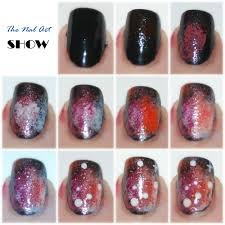 the nail art show red galaxy tutorial