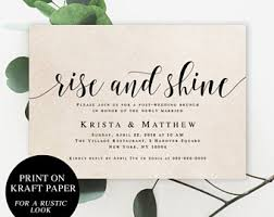 after wedding brunch invitations post wedding brunch etsy