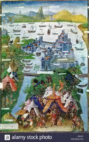 Byzantine Ottoman Byzantine Ottoman Wars Constantinople Falls 1453 Stock Photo