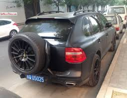 porsche cayenne 2014 black porsche cayenne is matte black in china carnewschina com china