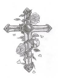 cross and roses by bre38 on deviantart
